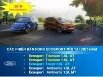 Ford Ecosport 2019, KM lớn, tặng BHTV, vay 90%, giao xe ngay, Tel: 0919263586
