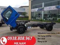 Xe tải Mitsubishi Fuso Canter 4.99 tải 2 tấn 2. Hỗ trợ vay tài chính. Liên hệ 0938808967