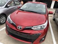 Bán xe Toyota Vios 1.5G AT màu đỏ 2019, hỗ trợ vay 90%, thanh toán 130tr nhận xe