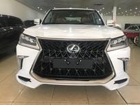 Bán Lexus LX570 Super Sport S 2019 Trung Đông trắng, nội thất nâu da bò mới 100%