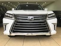 Bán Lexus LX570 xuất Mỹ màu trắng sản xuất 2018 nhập mới 100% nội thất nâu da bò đậm đẹp