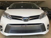 Giao ngay Toyota Sienna Limited trắng, nội thất nâu da bò, xe sản xuất 2018, model 2019 bản full đồ nhất