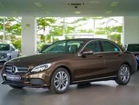 Bán Mercedes-Benz C200 nâu 2017, cũ chính hãng tốt nhất, giao ngay