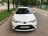Cần bán gấp Toyota Vios 2016, số sàn, màu trắng Ngọc Trinh, bao zin