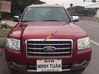 Bán Ford Everest 2.5, 2 cầu số sàn màu đỏ, đời 2008, xe trang bị 3 màn hình + camera de