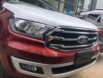 Bán Ford Everest Trend 2018, màu đỏ, xe giao ngay