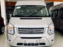 Bán Ford Transit Luxury Turbo Diesel 2019, màu bạc giá tốt nhất thị trường liên hệ 0911997877