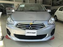 Bán Mitsubishi Attrage MT Eco năm 2018, màu bạc, nhập khẩu, 375.5tr