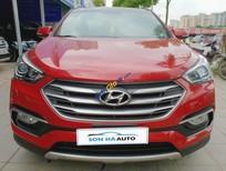Cần bán gấp Hyundai Santa Fe 2.4AT 4WD sản xuất 2016, màu đỏ, nhập khẩu nguyên chiếc