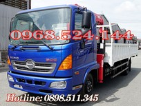 Xe tải Hino 5T gắn cẩu Unic 340 có sẵn giao liền