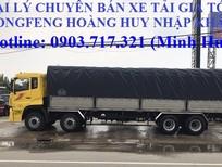 Bán xe tải DongFeng 4 chân nhập khẩu YC310 thùng dài 9m5, YC310 tải 17T99