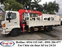 Bán xe tải Hino FC 4.6 tấn xe gắn cẩu + giá tốt nhất, xe có sẵn ở công ty ô tô Tây Đô