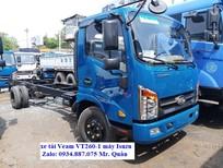 Bán xe tải Veam VT260-1 1t9 (1.9 tấn) thùng dài 6.2m đi được vào thành phố