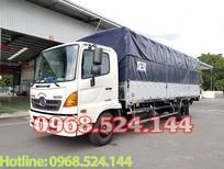 Đại lý xe tải Hino 5T6 thùng bạt sản xuất năm 2018, có hỗ trợ mua trả góp