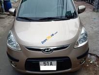 Bán Hyundai i10 năm 2008, màu ghi vàng, nhập khẩu xe gia đình