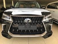 Bán Lexus LX570 Super Sport S 2019 màu đen, nội thất nâu da Bò, xe xuất Trung Đông mới 100%.