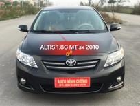 Bán Toyota Corolla altis 1.8G MT năm 2010, màu đen, giá tốt