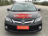 Cần bán xe Toyota Corolla altis 2.0V sản xuất năm 2012, màu đen