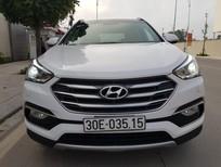 Cần bán gấp Hyundai Santa Fe 2.4 4WD 2016, màu trắng, xe đẹp, biển HN
