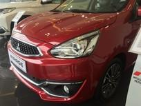 Bán xe 5 chỗ Mitsubishi Mirage màu đỏ, 2019. Hỗ trợ trả góp 80% giá trị xe. LH: 0935.445.730