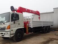 Bán xe tải 3 chân Hino gắn cẩu Atom 8 tấn 6 khúc
