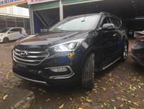 Bán Hyundai Santa Fe 2.4AT 2017, màu đen, nhập khẩu