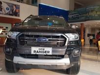 Bán Ford Ranger Wildtrak 2.0 Biturbo 4x4 AT 2019, màu đen, nhập khẩu nguyên chiếc, hỗ trợ trả góp 80%