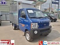Xe tải nhỏ Dongben thùng kín 770kg, KT thùng dài 2.450 màu xanh