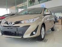 Bán ô tô Toyota Vios E CVT năm 2019, màu vàng, giá 569tr