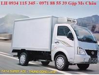 Bán xe tải Tata Super ACE đông lạnh, xe tải Tata 990kg, xe Tata 1.2 tấn nhập khẩu Ấn Độ