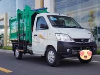 Bán xe tải TOWNER990 thùng ben có cơ cấp kẹp nâng thùng rác, có lưỡi đẩy ép rác thùng ~2,7 khối