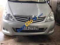 Cần bán lại xe Toyota Innova sản xuất 2010, màu bạc, giá 405tr