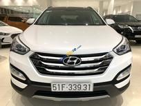 Cần bán lại xe Hyundai Santa Fe 2.4 AT năm 2015, màu trắng, giá chỉ 870 triệu