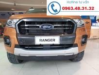 Bán ô tô Ford Ranger Wildtrak 2.0 Biturbo 4x4 AT 2019, màu đỏ cam, giao xe ngay tại Lào Cai