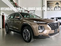 Bán ô tô Hyundai Santa Fe 2019, màu nâu, xe giao ngay, LH: Hữu Hân 0902 965 732