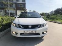 Cần bán xe Honda Civic 1.8 AT, đời 2015, màu trắng, biển HCM siêu đẹp