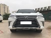 Siêu mới 99,999%, Lexus LX570 xuất Mỹ, màu trắng, nội thất nâu đỏ, xe sản xuất 2018, đăng ký cuối 2018