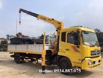 Bán xe tải Dongfeng B180 9 tấn gắn cẩu Unic 5 tấn, thùng dài 6.5M