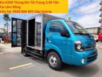 Xe Kia K250 thùng kín tải trọng 2,49 tấn tại Lâm Đồng - bao giấy tờ