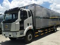 Xe tải Faw 8 tấn thùng kín chở bao bì giấy, mút xốp nhập khẩu 2020, hỗ trợ trả góp