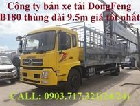 Công ty bán xe tải DongFeng 8 tấn B180 thùng dài 9m5, xe tải DongFeng thùng 9m5