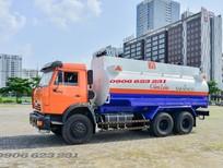 Bán xe bồn xăng dầu Kamaz 18m3, Kamaz xăng dầu 3 chân nhập khẩu giá tốt