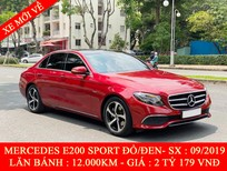 Quốc Duy Auto - bán xe Mercedes E200 Sport đỏ/đen 2020 siêu mới - trả trước 750 triệu nhận xe ngay