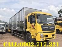 Xe tải DongFeng B180 new thùng kín dài 9m7 mở 3 cửa hông