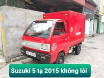 Xe tải Suzuki 5 tạ cũ thùng kín màu đỏ 2015 tại Hải Phòng
