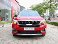 Kia Seltos Premium 2021 màu đỏ đen giao liền, đưa trước 244 triệu, lh Quang