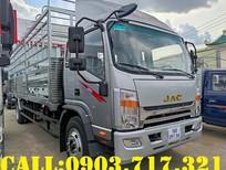 Xe tải Jac N800 mui bạt động cơ Cummins màu bạc 2021