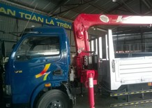 Xe tải lắp cẩu Unic 3 tấn 4 khúc - Xe tải Veam VT490 (5 tấn) lắp cẩu
