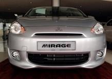 Cần bán Mitsubishi Mirage CVT 2017, màu xám, nhập khẩu nguyên chiếc