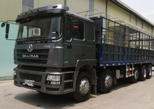 Bán xe tải tự đổ shacman 4 chân 2017, màu xám, nhập khẩu nguyên chiếc